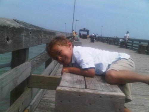 Cole on pier